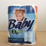 Kéztörlőpapír Baby 2 rtg. 2 tek/csom 45 lap/tek.