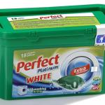 Perfect Platinum White 24 g. kapszulás folyékony mosószer 18 darabos
