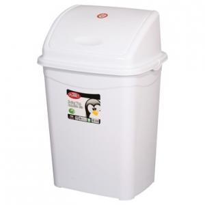 Billenőfedeles szemetes kuka, műanyag. LUXURY fehér, 50 literes