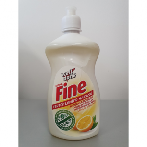 Fine Fertőtlenítő mosogatószer Lemon Essence 500 ml.