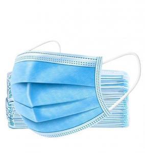 Háromrétegű szájmaszk gumis kék