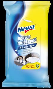 HEWA Nedves törlőkendő fürdőszobai 30 db