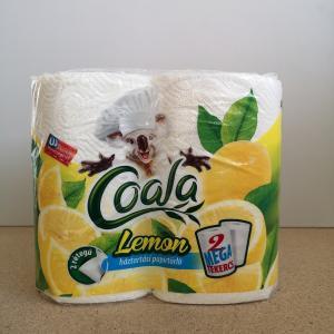 Kéztörlőpapír Coala Mega Lemon 2 rtg. 2tek/csom