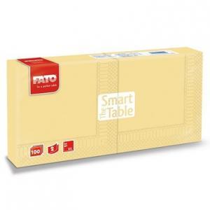 Szalvéta 25x25 cm FATO (pezsgő színű, 2 rétegű, 100 lap/csomag)