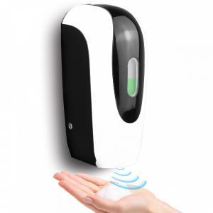 Szenzoros kézfertőtlenítő és folyékony szappan adagoló fali fehér-fekete 1000ml adapterrel