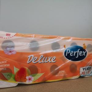 Toalettpapír kistekercses Perfex Deluxe barack illat 3 rtg. 18 m.10 tek/csom