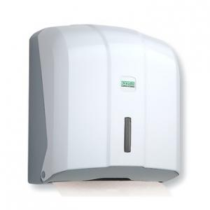 Vialli hajtogatott kéztörlő adagoló ABS fehér, K4, széles hajtogatású papírhoz