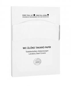 WC ülőke takaró papír, higiénikus alátét 200 db-os